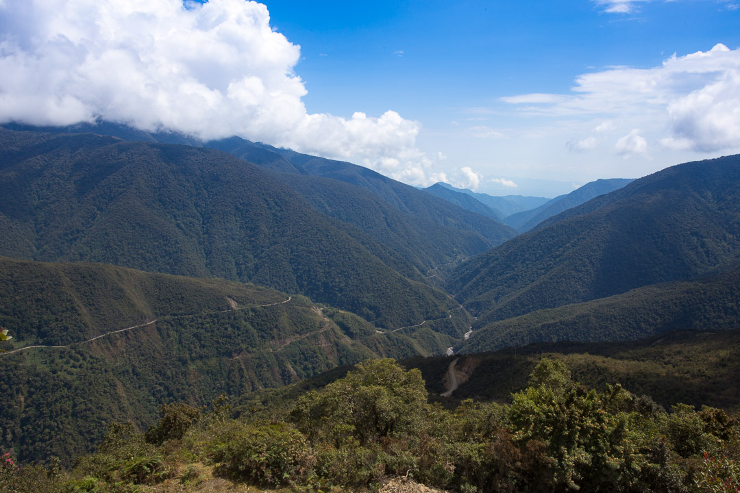 Manu road winding down the eastern slope of the Andes.