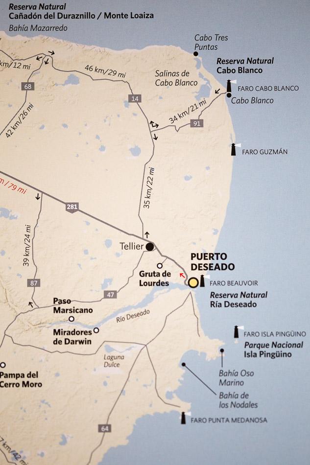 Map of Puerto Deseado estuary